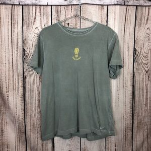 Life is Good  SOLE SISTER Green Burnout T-Shirt XL